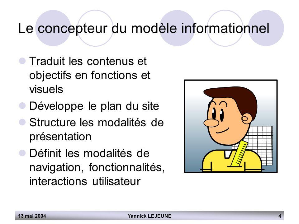 Le concepteur du modèle informationnel