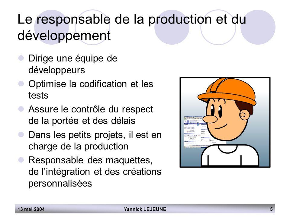 Le responsable de la production et du développement