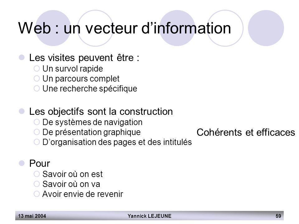 Web : un vecteur d'information