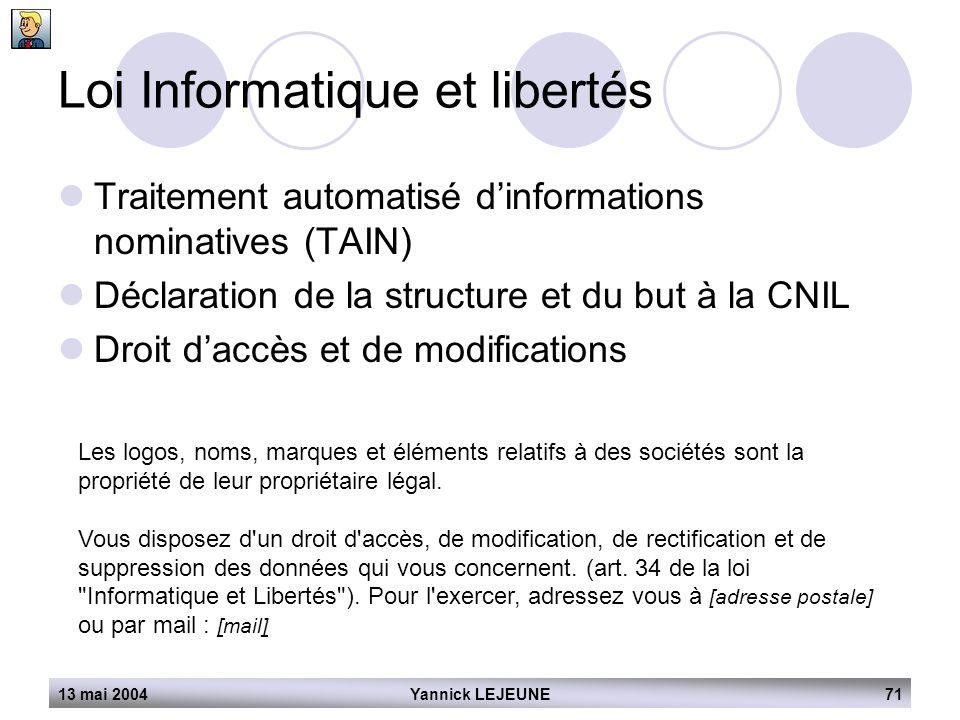 Loi Informatique et libertés