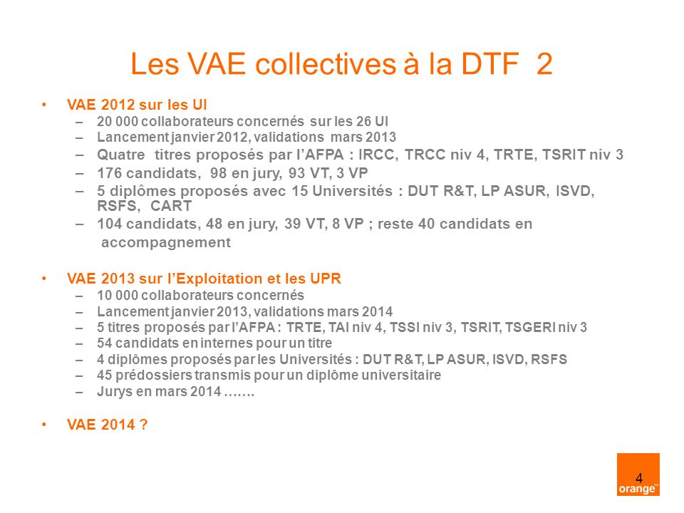 Les VAE collectives à la DTF 2