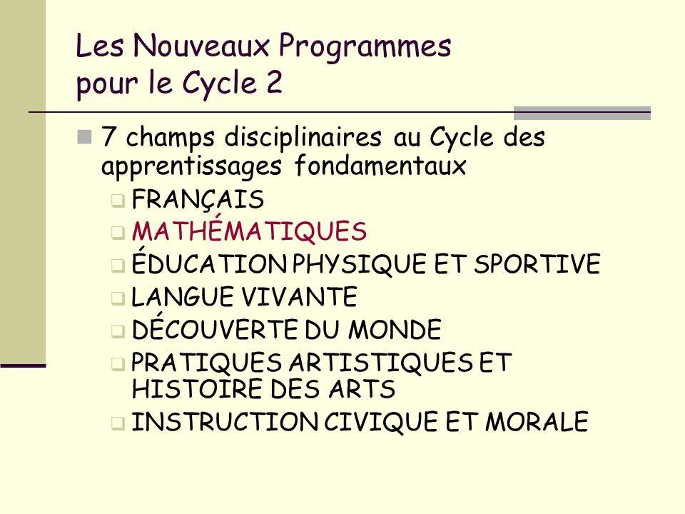 Les Nouveaux Programmes pour le Cycle 2