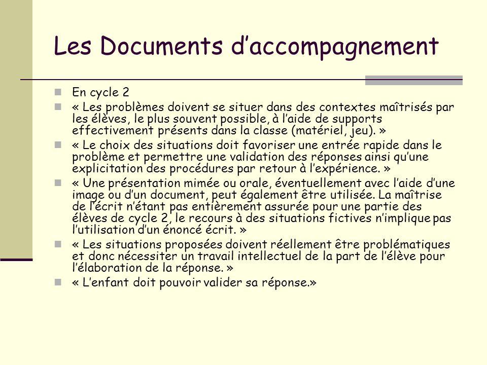 Les Documents d'accompagnement