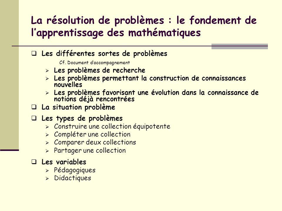 La résolution de problèmes : le fondement de l'apprentissage des mathématiques