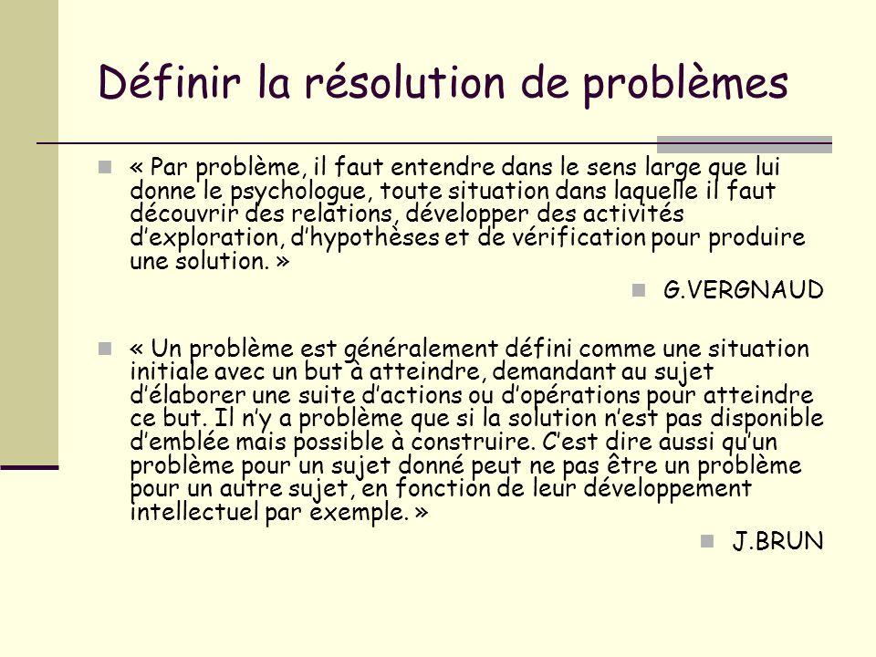 Définir la résolution de problèmes