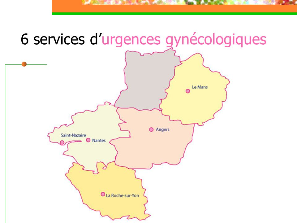6 services d'urgences gynécologiques