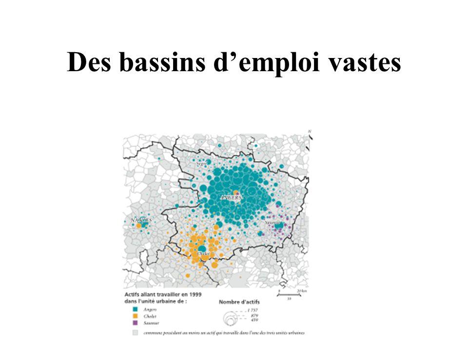Des bassins d'emploi vastes