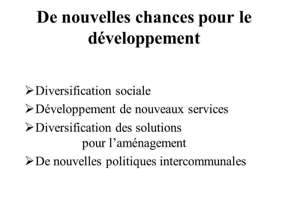 De nouvelles chances pour le développement