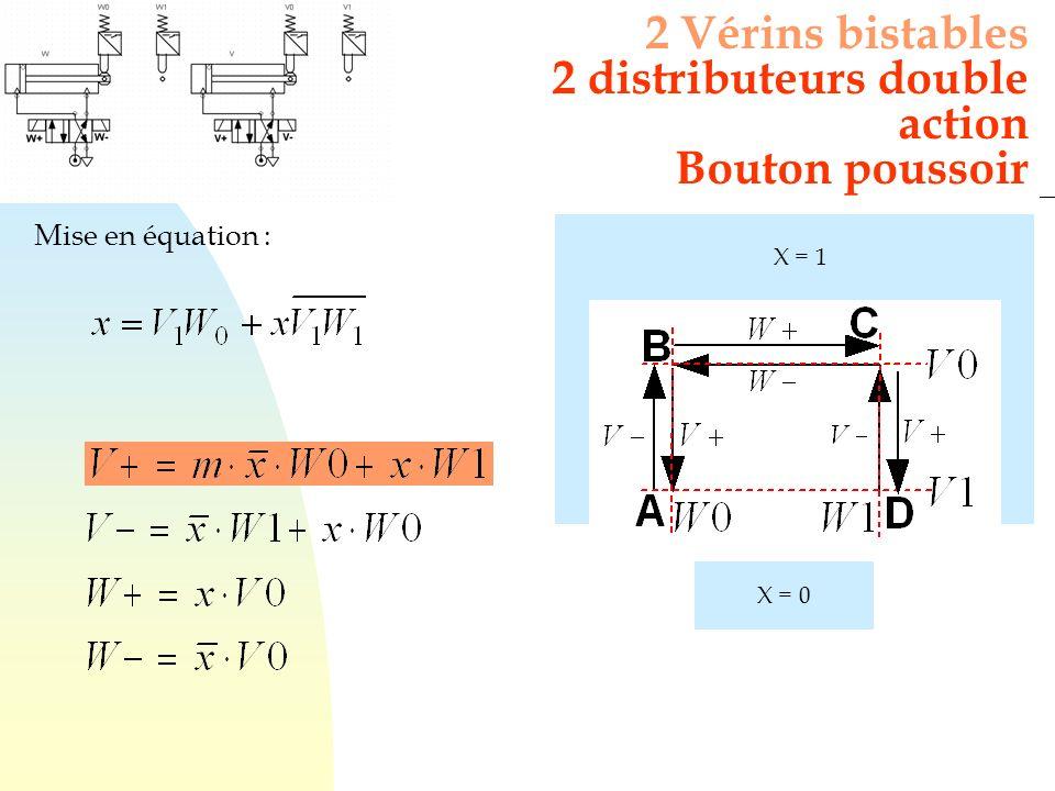 2 distributeurs double action Bouton poussoir