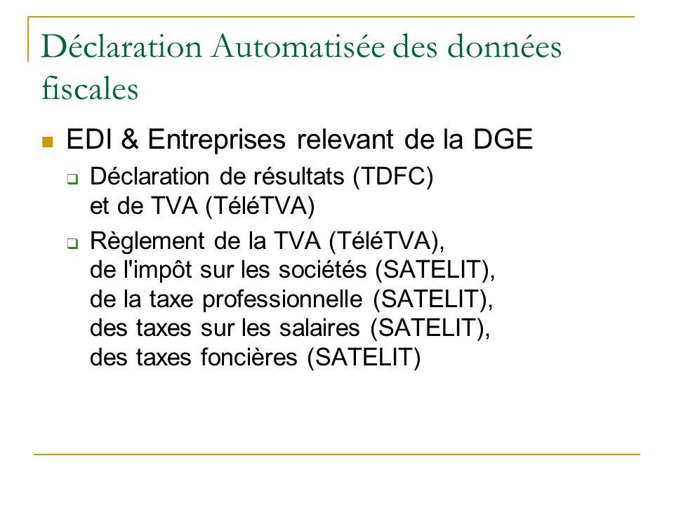 Déclaration Automatisée des données fiscales