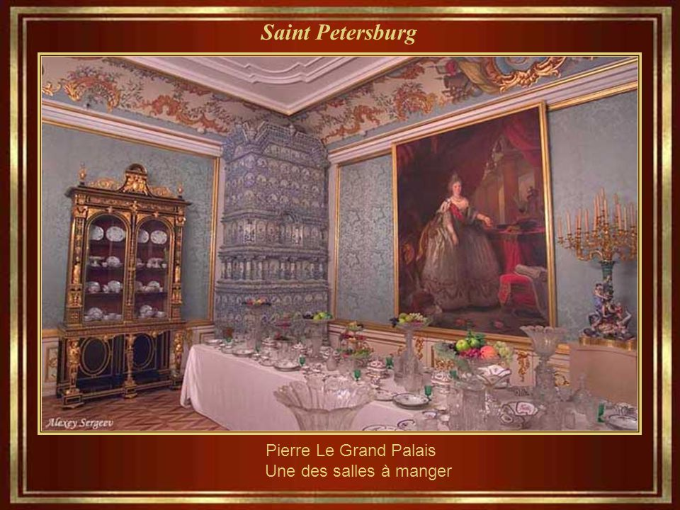 Pierre Le Grand Palais Une des salles à manger