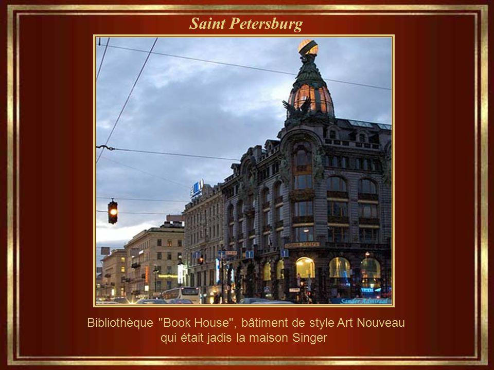 Saint Petersburg Bibliothèque Book House , bâtiment de style Art Nouveau.