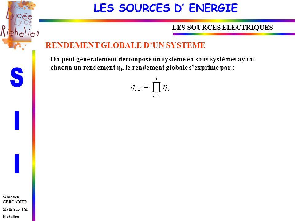 LES SOURCES ELECTRIQUES