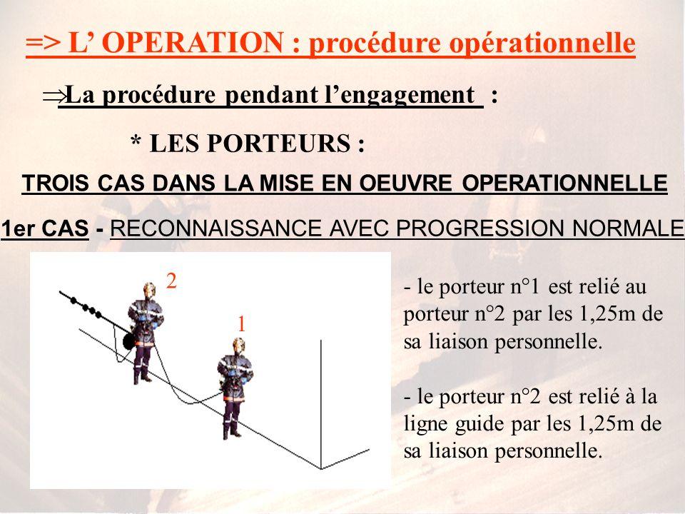 1er CAS - RECONNAISSANCE AVEC PROGRESSION NORMALE