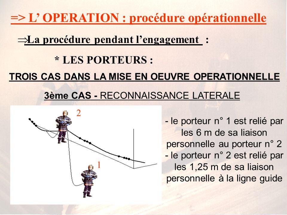 3ème CAS - RECONNAISSANCE LATERALE