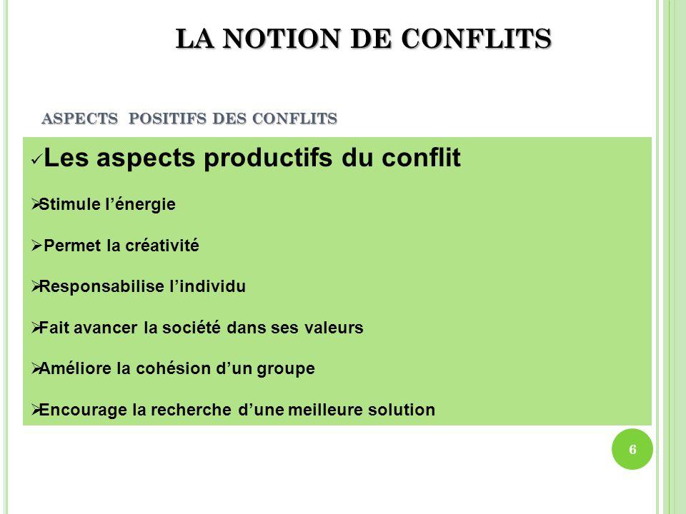 ASPECTS POSITIFS DES CONFLITS