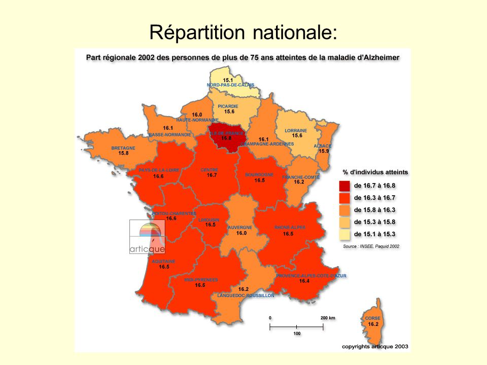 Répartition nationale:
