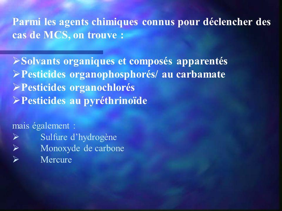 Solvants organiques et composés apparentés