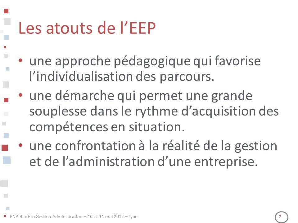 Les atouts de l'EEP une approche pédagogique qui favorise l'individualisation des parcours.