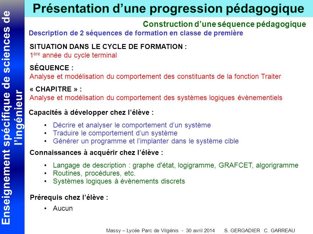 Construction d'une séquence pédagogique