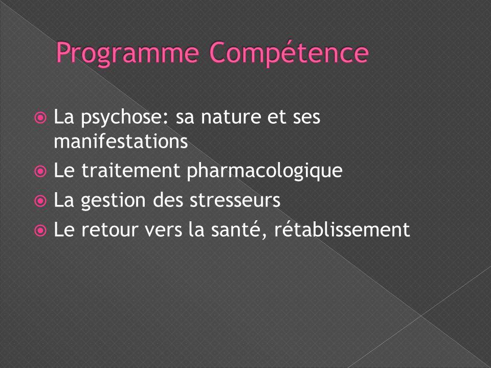 Programme Compétence La psychose: sa nature et ses manifestations