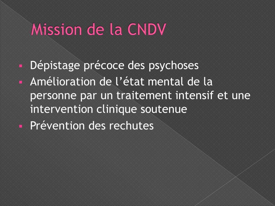 Mission de la CNDV Dépistage précoce des psychoses