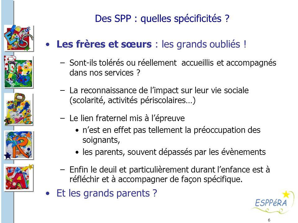 Des SPP : quelles spécificités