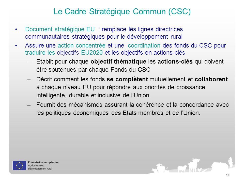 Le Cadre Stratégique Commun (CSC)