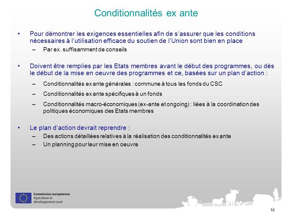 Conditionnalités ex ante