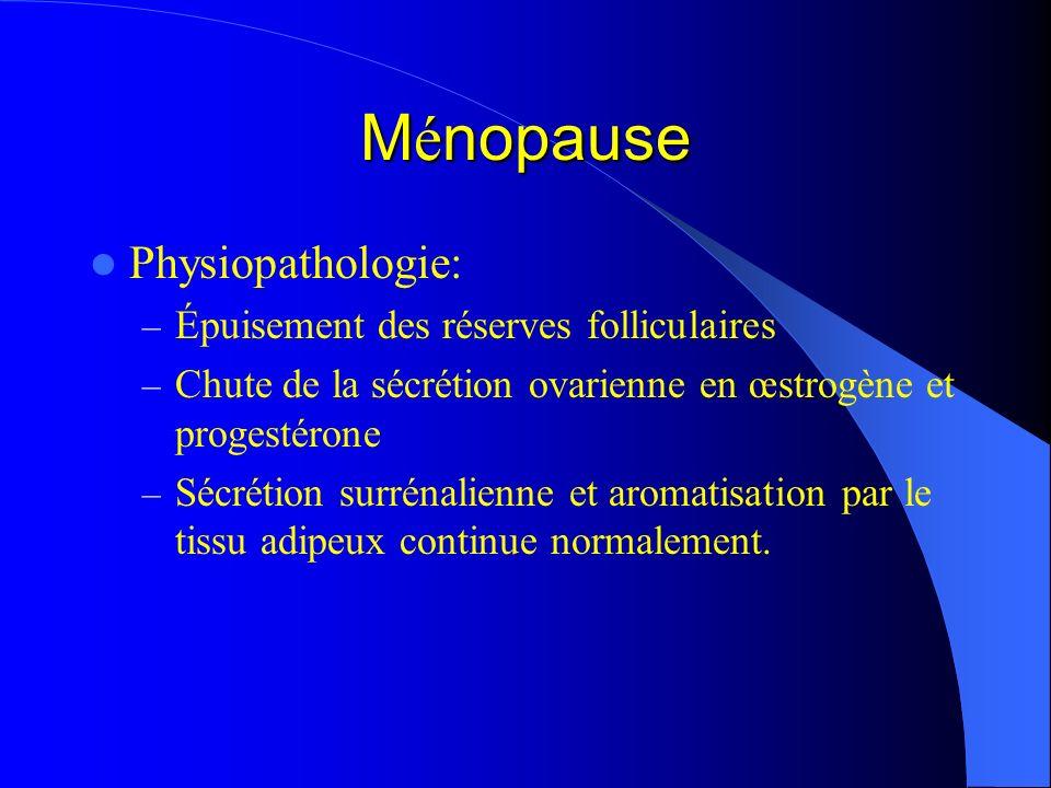 Ménopause Physiopathologie: Épuisement des réserves folliculaires