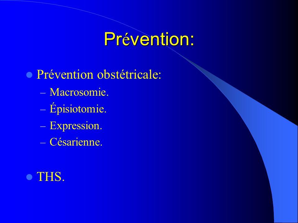 Prévention: Prévention obstétricale: THS. Macrosomie. Épisiotomie.