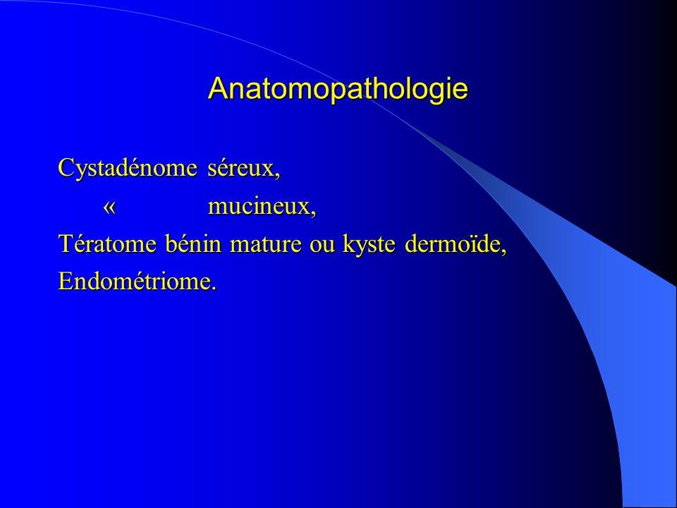 Anatomopathologie Cystadénome séreux, « mucineux,