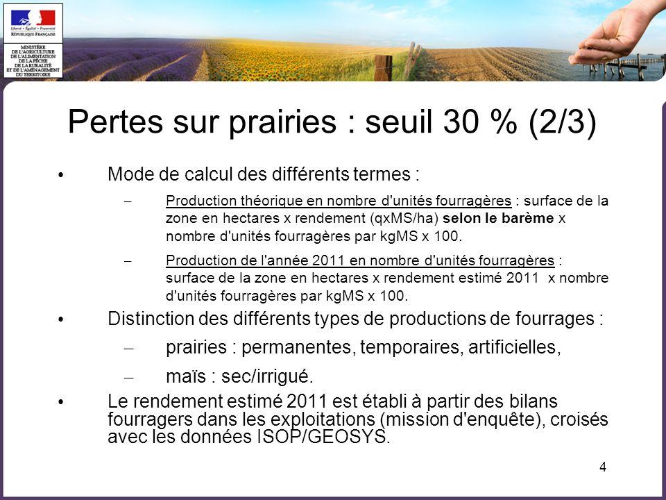 Pertes sur prairies : seuil 30 % (2/3)
