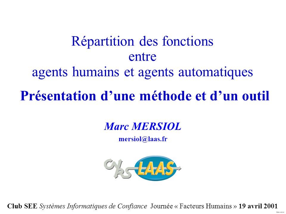 Marc MERSIOL mersiol@laas.fr
