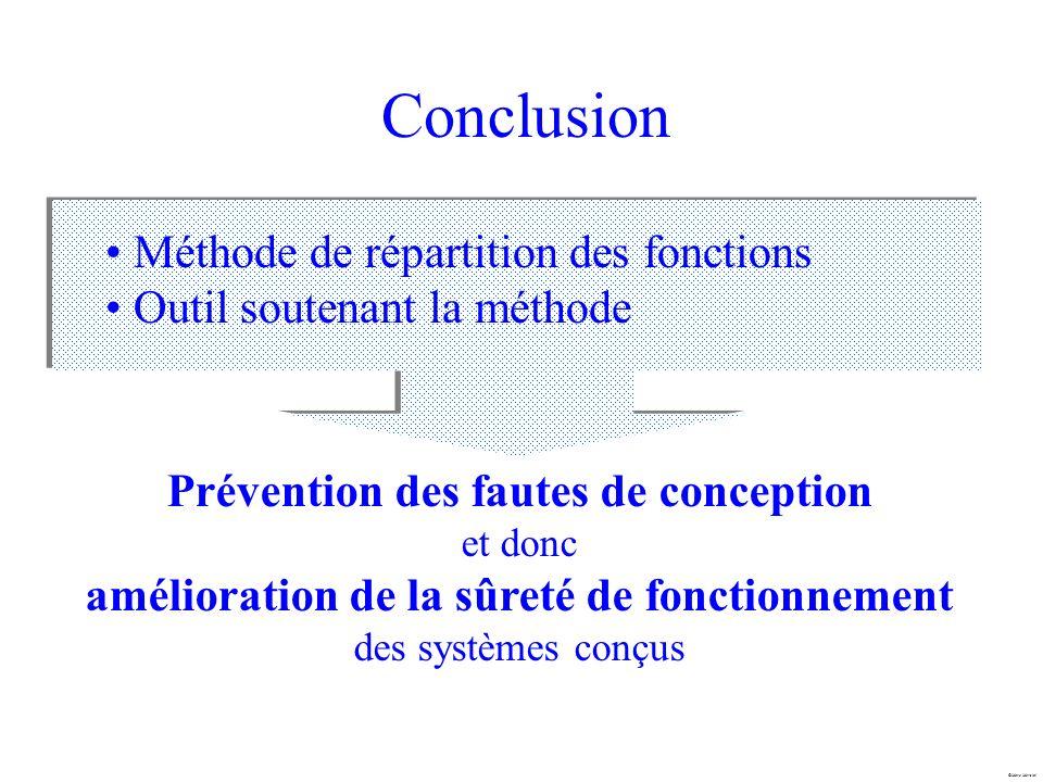 Conclusion Méthode de répartition des fonctions
