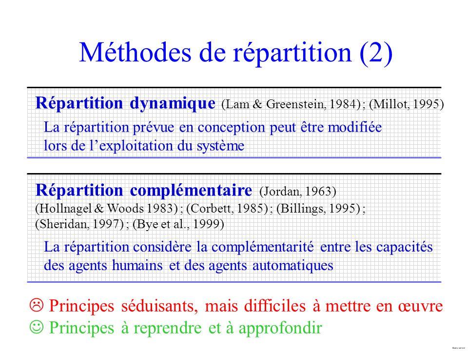 Méthodes de répartition (2)