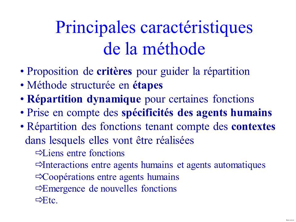 Principales caractéristiques de la méthode