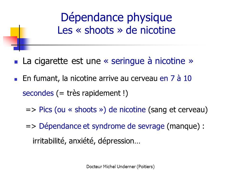 Dépendance physique Les « shoots » de nicotine
