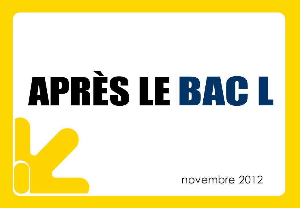 APRÈS LE BAC L novembre 2012