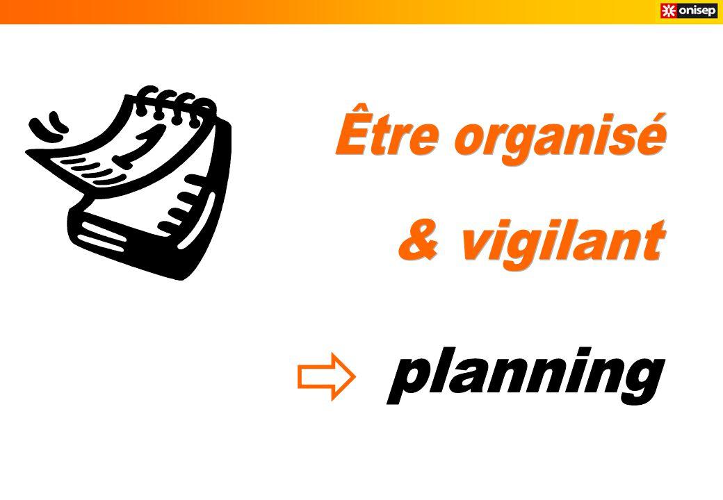 Être organisé & vigilant planning