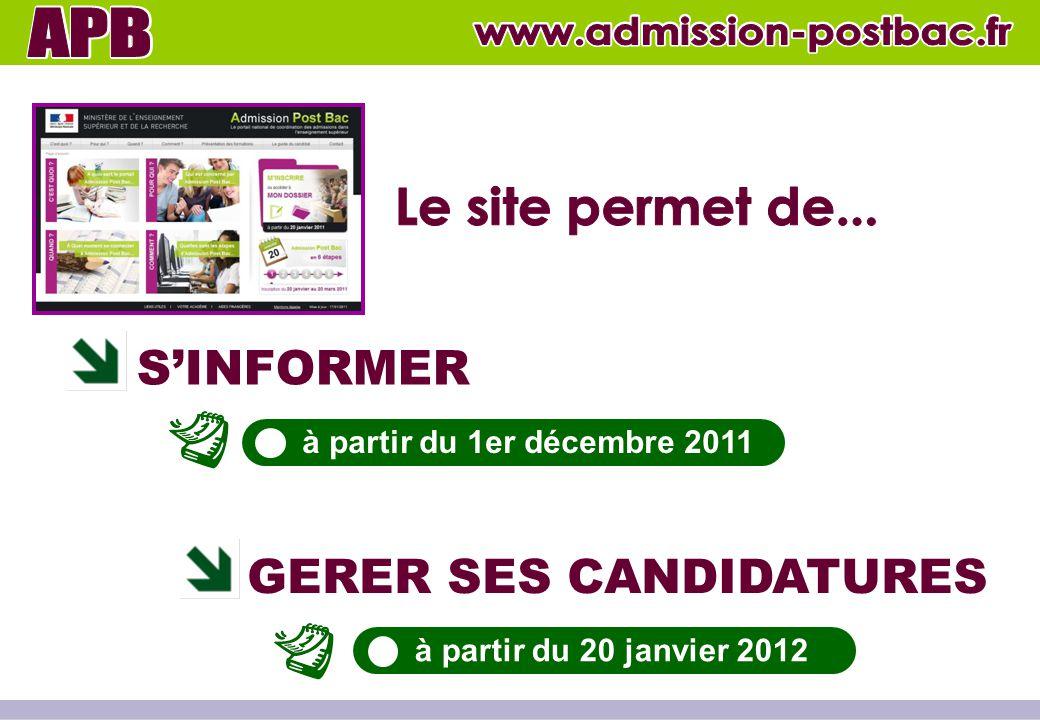 www.admission-postbac.fr www.admission-postbac.fr Le site permet de...