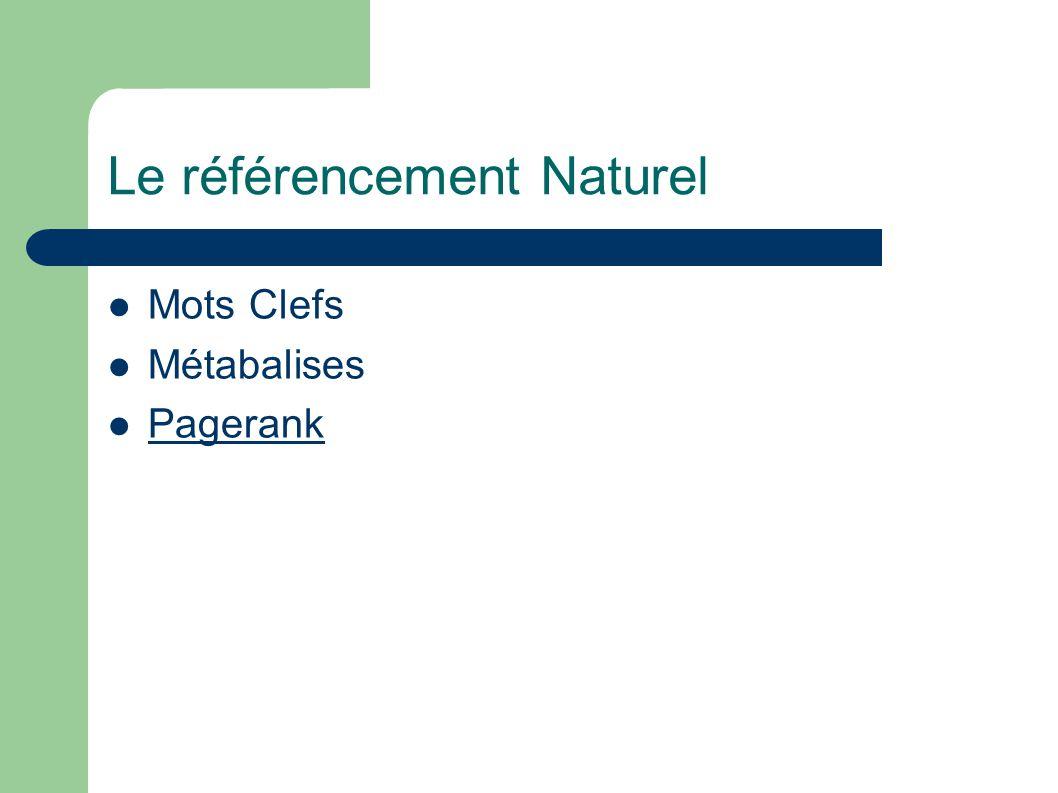 Le référencement Naturel