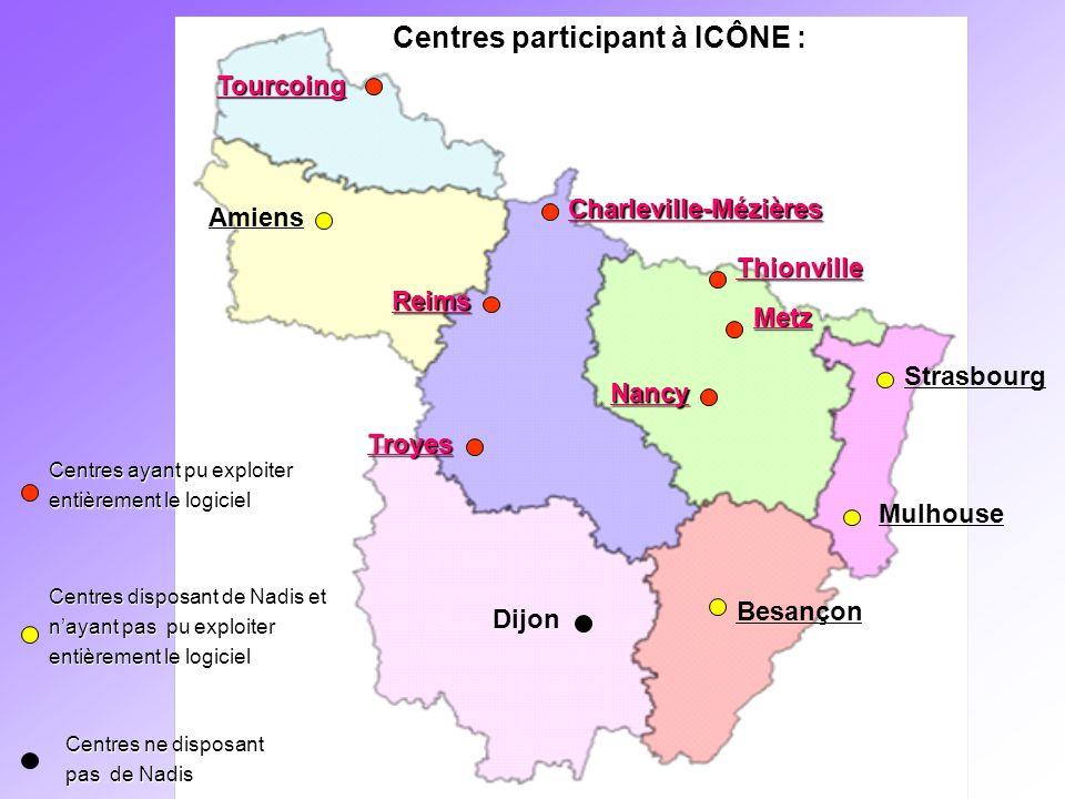 Centres participant à ICÔNE :