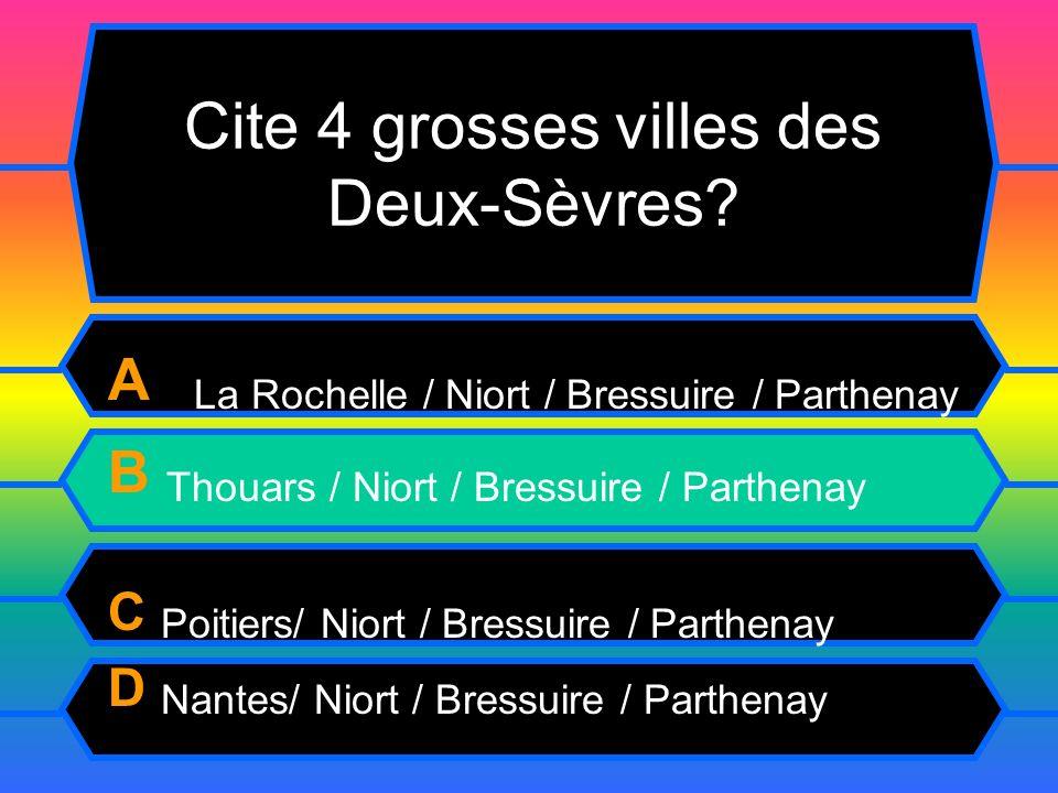 Cite 4 grosses villes des Deux-Sèvres