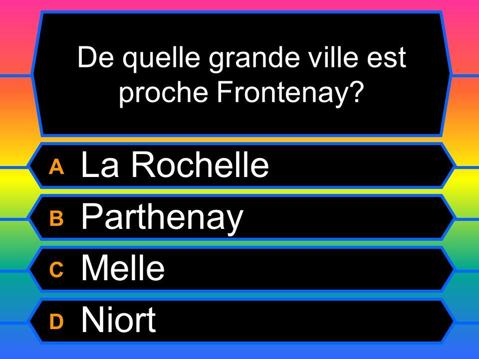 De quelle grande ville est proche Frontenay