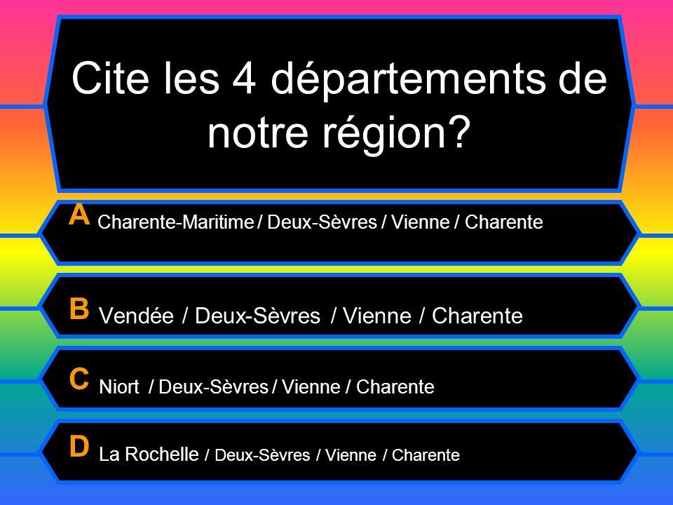 Cite les 4 départements de notre région