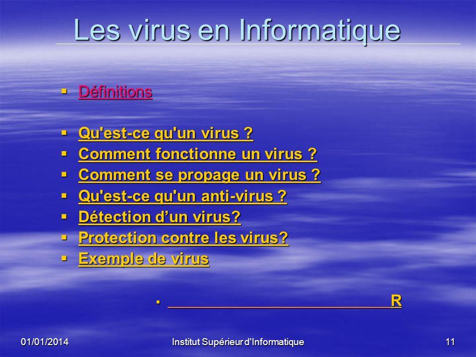 Les virus en Informatique