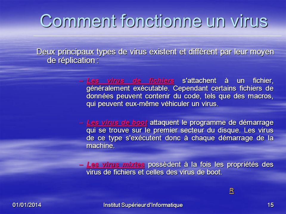 Comment fonctionne un virus
