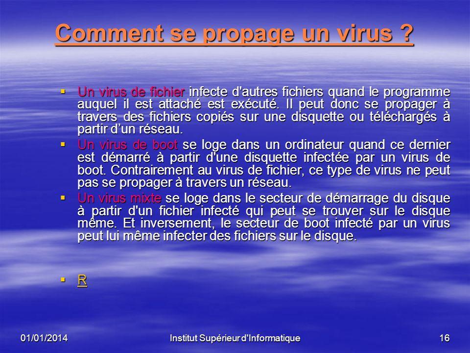 Comment se propage un virus
