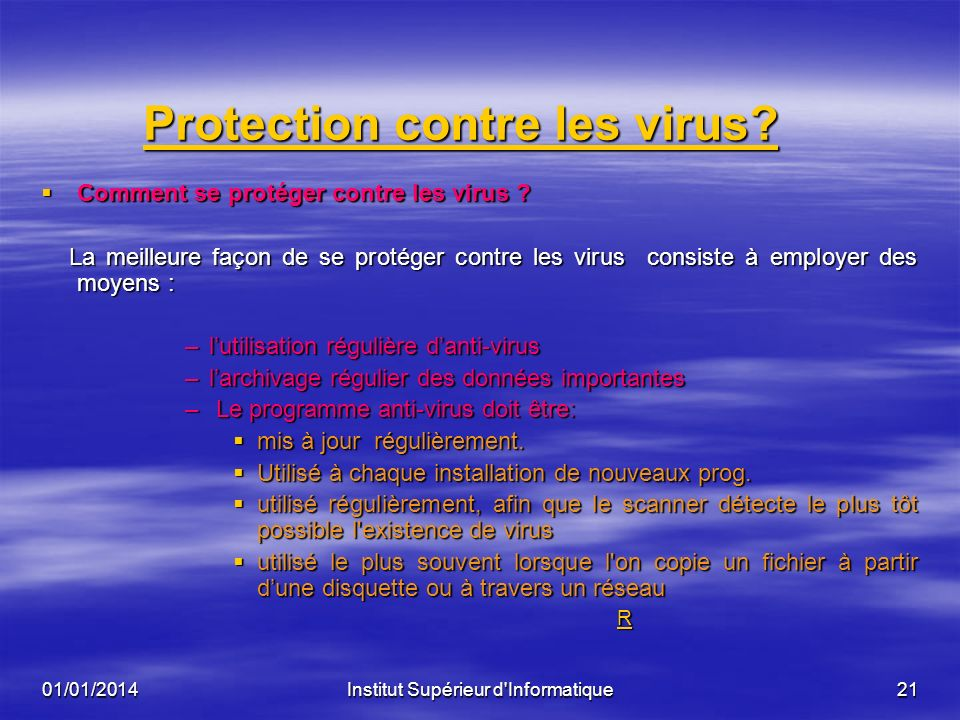 Protection contre les virus